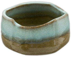 Beige and brown hand made Matcha bowl from Japan