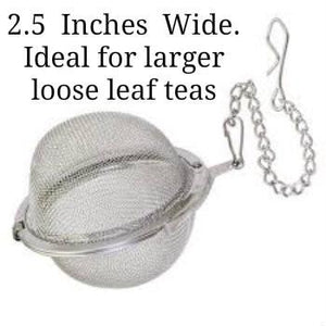 2.5 inch wide tea ball