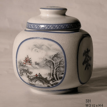 Chinese porcelain tea canister