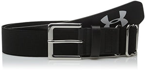 Under Armour Men's Baseball Belt, Black/Black, One Size