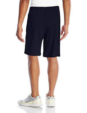 Champion Men's Jersey Short with Pockets, Navy, Medium