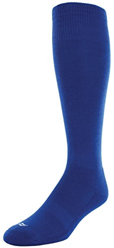 Sof Sole RBI Baseball Over-the-Calf Team Athletic Performance Socks for Men and Youth (2 Pairs), Men's 5-9.5, Royal