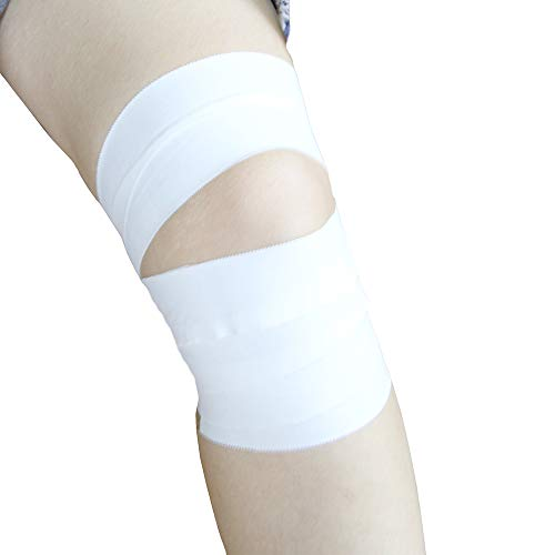 "AUPCON White Athletic Tape Medical Sports Tape - No Sticky Residue for Athletes , Protect Ankle & Knee & Wrist and Mucle Support for Training Supplies Boxing Professional Supply Cotton,1.5"" X 15 Yard 3Rolls"