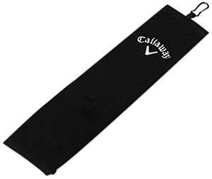 Callaway Golf Tri-Fold Towel 16X21, Black