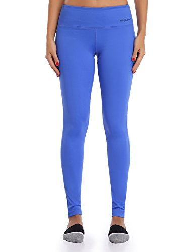 WingsLove Womens Sport Slimming Fitness Running Yoga Capris Flex Leggings Pants (S, Blue)