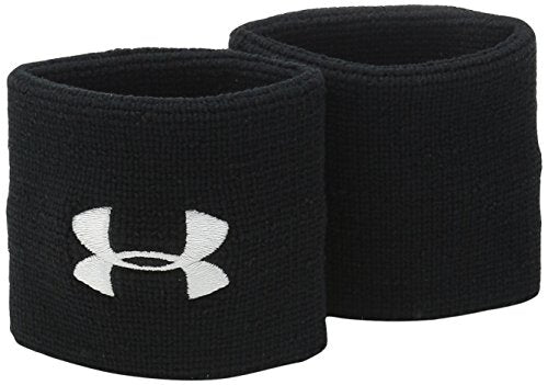 "Under Armour Men's 3"" Performance Wristbands, Black (001), One Size"