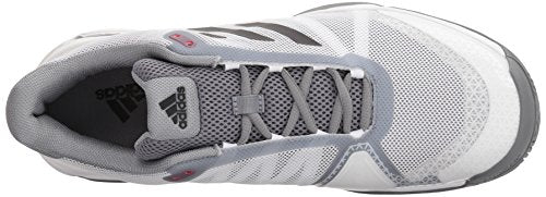 adidas Men's Barricade Club Tennis Shoes, White/Black/Grey, 4.5 M US