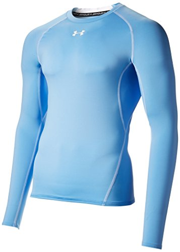 Under Armour Men's HeatGear Armour Long Sleeve Compression Shirt, Carolina Blue/White, Small