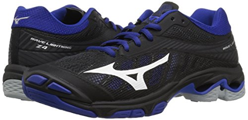 Mizuno Women's Wave Lightning Z4 Volleyball Shoe, Black/Royal, Women's 7.5 B US