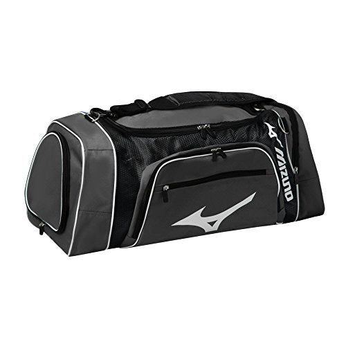 Mizuno Lightning Duffle Bag (L) 27-Inchx(W) 13-Inchx(H) 12-Inch, Grey/Black