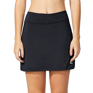 Baleaf Women's Active Athletic Skort Lightweight Skirt with Pockets for Running Tennis Golf Workout Black Size M