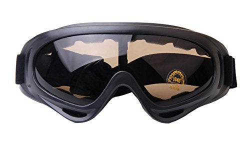 MaxAike 1 Mirrored Reflection Sports Glasses Ski Goggles - Cross Country Skiing - Mountain Climbing - Cycling Sunglasses (Coffee)
