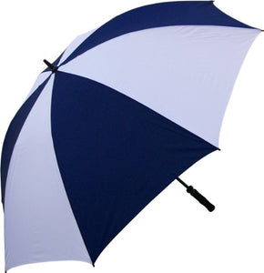 RainStoppers W028NYW Oversize Windproof Golf Umbrella, 68-Inch (Navy/White)