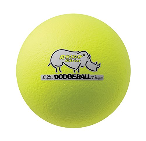 "Champion Sports Rhino Skin Dodgeball (Neon Yellow, 6"")"