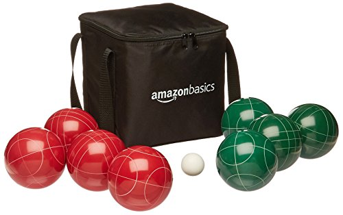 AmazonBasics Bocce Ball Set with Soft Carrying  Case  - 100mm