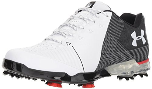 Under Armour Men's Spieth 2 Golf Shoe, White 1 (104)/Black, 10