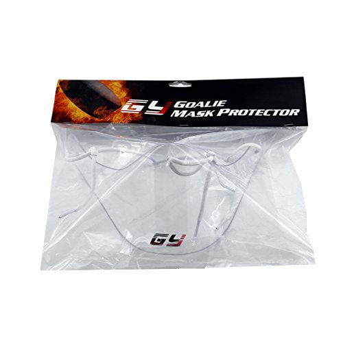 GY PC Neck Guard for Goalie Helmet Neck Protection Free Size Clear Roller in-line