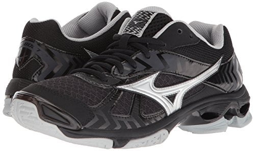 Mizuno Wave Bolt 7 Volleyball Shoes, Black/Silver, Women's 9.5 B US