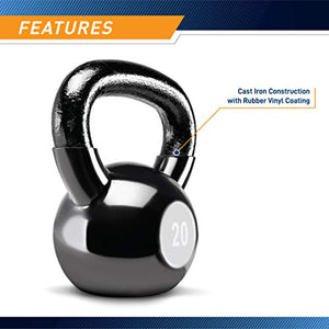 Marcy 50 lb. Kettlebell Weight Set with Exercise Chart and Four Kettlebells VKBS-50