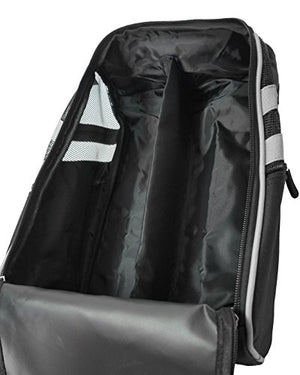 CaddyDaddy Golf Modern Golf Shoe Bag, Black/Grey