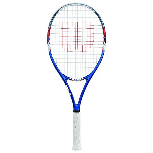 Wilson US Open Strung Tennis Racquet, 4 1/4-Inch, Blue/Gray