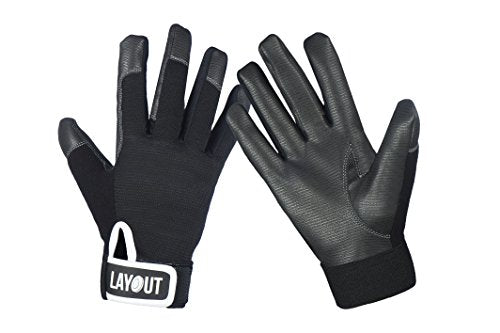 Layout Ultimate Frisbee Gloves - Ultimate Grip and Friction to Enhance Your Game! (XXL)