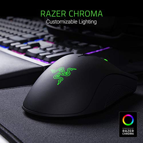 Razer RZ01-02010100-R3U1 RZ01-02010100-R3U1 DeathAdder Elite - Multi-Color Ergonomic Gaming Mouse - World's Most Precise Sensor - Comfortable Grip - The eSports Gaming Mouse