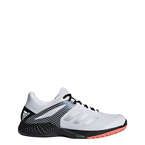 adidas Men's adizero Club 2 Tennis Shoes, Footwear White/Matte Silver/Core Black, 8 M US