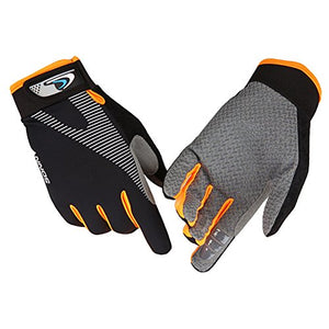 CFTech Ultimate Frisbee Gloves Ice Silk Breathable Cycling Gloves Non-Slip - Ultimate Grip and Friction to Enhance Your Game! Also for Riding Fitness Training Outdoor Sports (L)