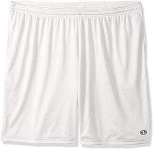 Champion Men's Long Mesh Short with Pockets, White, XXX-Large