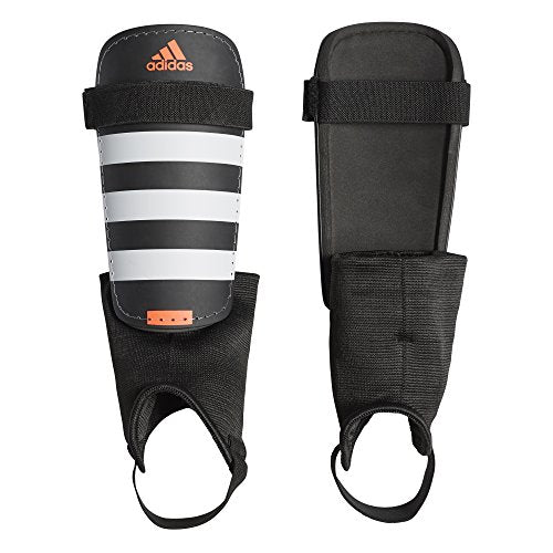 adidas Everclub Shin Guards, Black/White/Solar Red, XL
