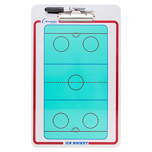 Champion Sports Dry-Erase Ice Hockey Clipboard