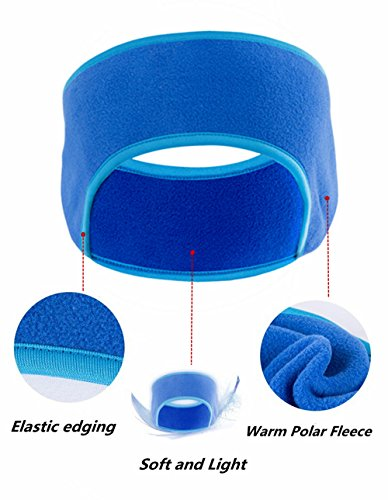 MsFeng Polar Fleece Headband / Ear Warmers - Windproof Running Sport Headband Earmuffs - Stay Warm & Cozy with our Ultimate Thermal Retention & Performance Moisture Wicking (Black)
