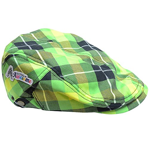 Royal & Awesome Men's Golf Hat, Plaid Electric, One Size