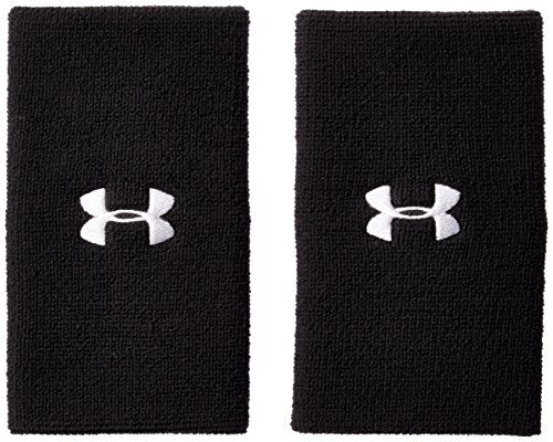 Under Armour 6'' Performance Wristband, Black (001), One Size