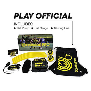 Spikeball Pro Kit (Tournament Edition) - Includes Upgraded Stronger Playing Net, New Balls Designed to Add Spin, Portable Ball Pump, Backpack - As Seen on Shark Tank TV