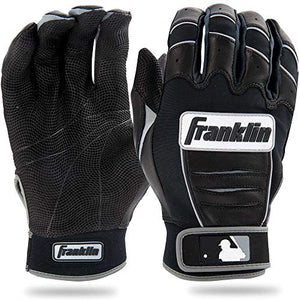 Franklin Sports MLB CFX Bro Batting Gloves, Black/Black (2015), Adult Large