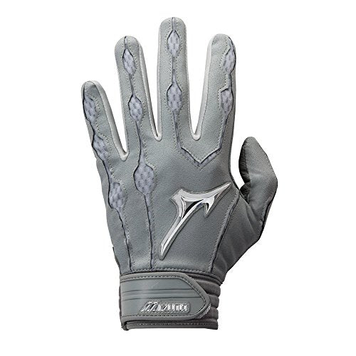 Mizuno Covert Batting Gloves, Grey, X-Large