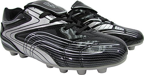 Vizari Men's Striker FG Soccer Shoe, Black/Silver, 9 M US