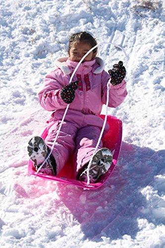 Slippery Racer Downhill Sprinter Toboggan Snow Sled, Red