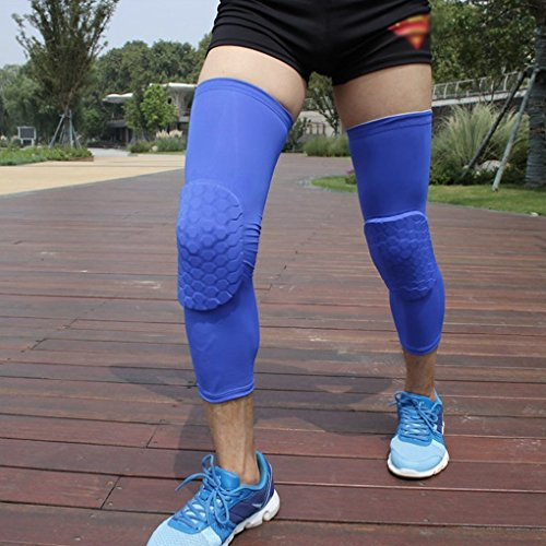 Reachs 1 Pair / 2 Pcs Kneepad Honeycomb Protective Knee Pads Leg Knee Sleeve Support Guard Padded Hexpad