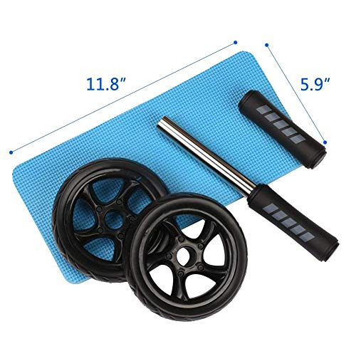 Ab Roller Wheel, Arespark Ab Wheel for Training - Home Exercise Equipment Perfect Workout Equipment for Abs - Heavy Duty Non-Slip Rubber Wheel - Foam Padded Performance Handles (New)