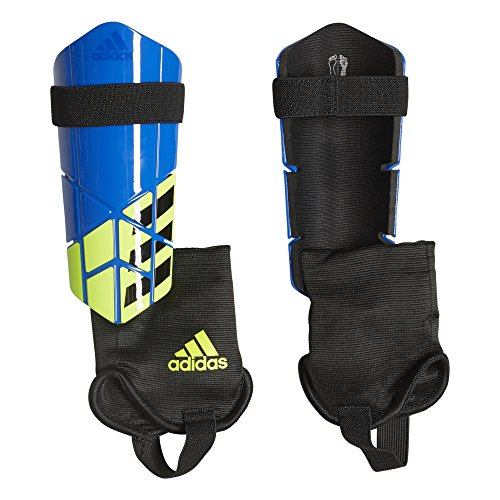 adidas Unisex X Ghost Club Shin Guards, Football Blue/Black/Solar Yellow, L