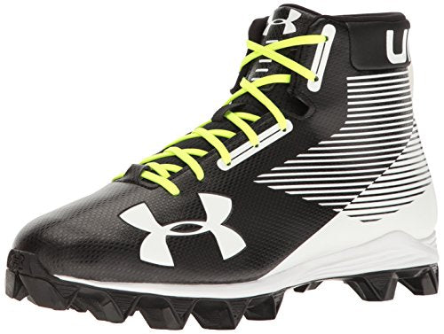 Under Armour Men's Hammer Mid RM Football Shoe, Black (011)/White, 9