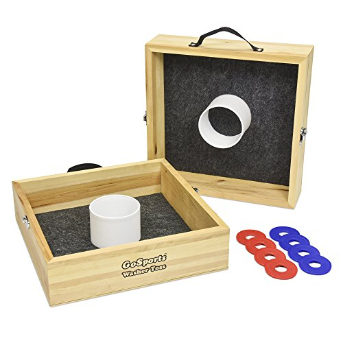 GoSports Premium Birch Wood Washer Toss Game