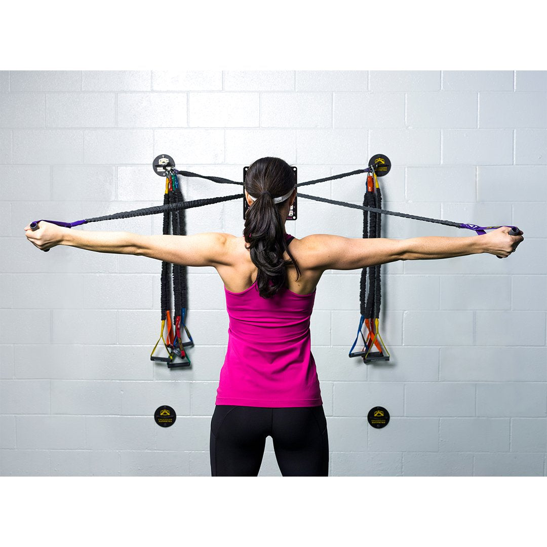 Novice Crossover Symmetry Individual Package with Wall Mounts - Shoulder Health and Performance System. Perfect for Crossfit, Warmups, Arm Care, Rotator Cuff Exercises or Rehab
