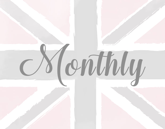 Monthly: Pay $33 per month and receive your British Beauty Box every 3 months!