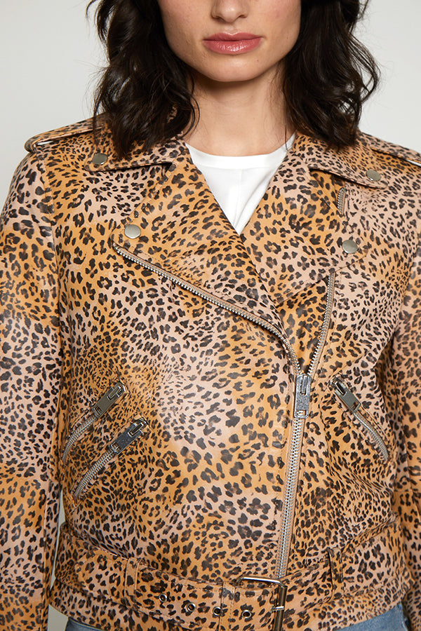 Francis Jacket, Natural Leopard