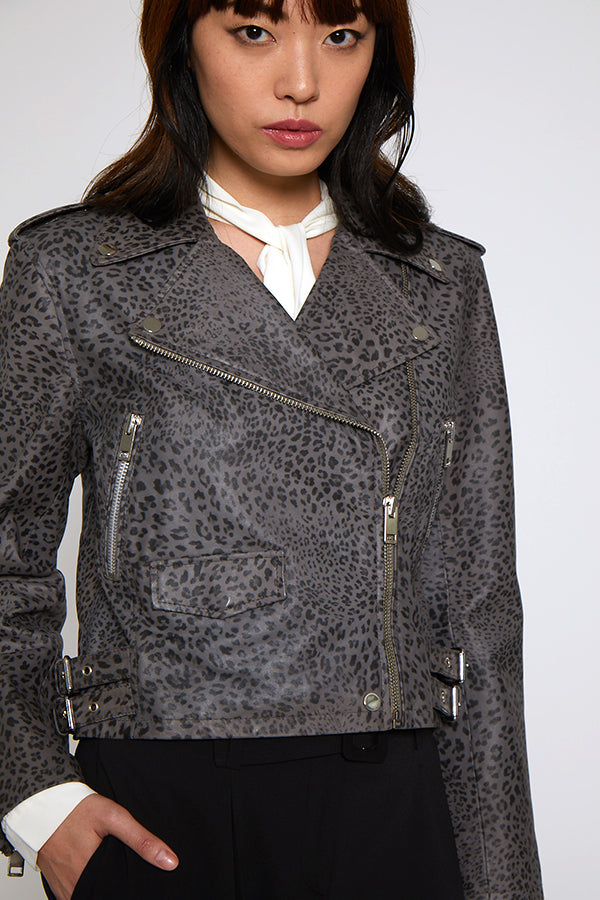 Francis Jacket, Grey Leopard