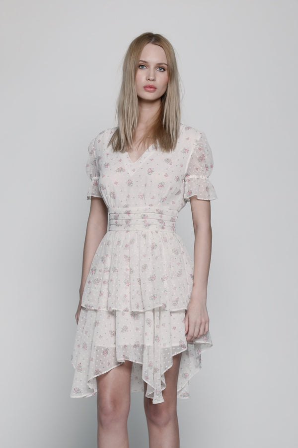 Mandy Dress, Light Pink Floral
